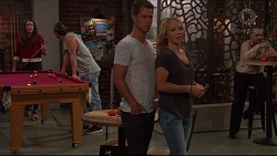 Paige Smith, Tyler Brennan, Mark Brennan, Steph Scully in Neighbours Episode 7327