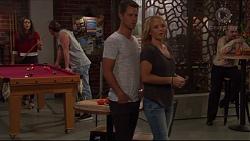 Paige Novak, Tyler Brennan, Mark Brennan, Steph Scully in Neighbours Episode 7327