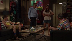 Kyle Canning, Paul Robinson, Amy Williams, Karl Kennedy in Neighbours Episode 7328
