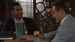 Tom Quill, Aaron Brennan in Neighbours Episode 7329