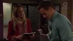 Sonya Mitchell, Aaron Brennan in Neighbours Episode 7330
