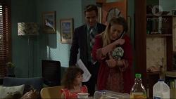 Aaron Brennan, Sonya Mitchell, Nell Rebecchi in Neighbours Episode 7330