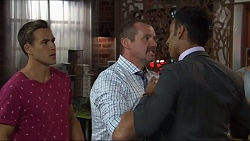Aaron Brennan, Toadie Rebecchi, Tom Quill in Neighbours Episode 7332