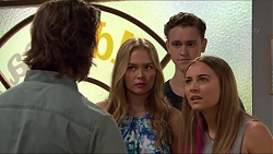 Brad Willis, Xanthe Canning, Brodie Chaswick, Piper Willis in Neighbours Episode 7332
