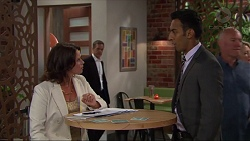 Julie Quill, Paul Robinson, Tom Quill in Neighbours Episode 7332
