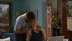 Mark Brennan, Steph Scully, Sonya Mitchell in Neighbours Episode 7333