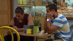 Tyler Brennan, Aaron Brennan in Neighbours Episode 7333
