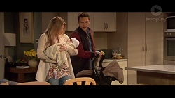 Amber Turner, Matilda Turner, Josh Willis in Neighbours Episode 7337