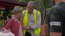 Hilary Robinson, Karl Kennedy, Ned Willis in Neighbours Episode 7338