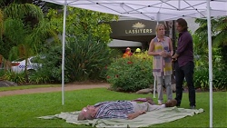 Doug Willis, Lauren Turner, Brad Willis in Neighbours Episode 7339