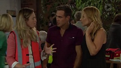 Sonya Mitchell, Aaron Brennan, Steph Scully in Neighbours Episode 7340