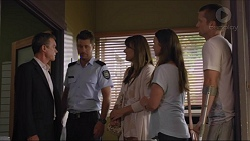 Paul Robinson, Mark Brennan, Nina Williams, Amy Williams, Daniel Robinson in Neighbours Episode 7342