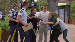 Mark Brennan, Paul Robinson, Daniel Robinson, Terese Willis, Amy Williams in Neighbours Episode 7342