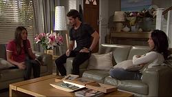 Paige Smith, Ned Willis, Imogen Willis in Neighbours Episode 7343