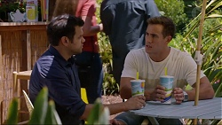 Nate Kinski, Aaron Brennan in Neighbours Episode 7345