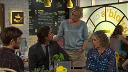 Ned Willis, Brad Willis, Lauren Turner, Pam Willis in Neighbours Episode 7346