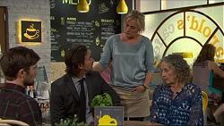 Ned Willis, Brad Willis, Lauren Turner, Pam Willis in Neighbours Episode 7346