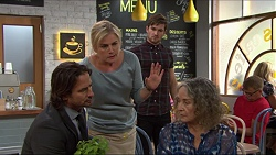 Brad Willis, Lauren Turner, Ned Willis, Pam Willis in Neighbours Episode 7346