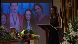 Terese Willis, Josh Willis, Imogen Willis, Brad Willis in Neighbours Episode 7346