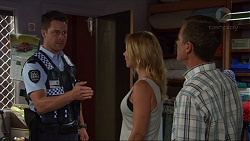 Mark Brennan, Steph Scully, Paul Robinson in Neighbours Episode 7348
