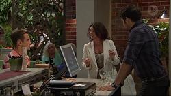 Aaron Brennan, Julie Quill, Nate Kinski in Neighbours Episode 7349