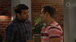 Nate Kinski, Aaron Brennan in Neighbours Episode 7349