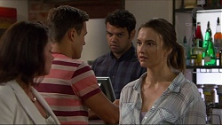 Julie Quill, Aaron Brennan, Nate Kinski, Amy Williams in Neighbours Episode 7349