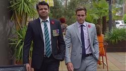 Nate Kinski, Aaron Brennan in Neighbours Episode 7351