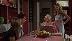 Piper Willis, Ben Kirk, Sheila Canning, Xanthe Canning in Neighbours Episode 7351