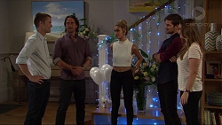 Daniel Robinson, Brad Willis, Madison Robinson, Ned Willis, Amy Williams in Neighbours Episode 7352