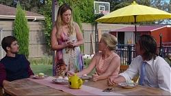 Ned Willis, Sonya Rebecchi, Lauren Turner, Brad Willis in Neighbours Episode 7353