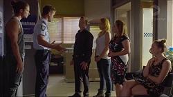 Tyler Brennan, Mark Brennan, Paul Robinson, Steph Scully, Terese Willis, Piper Willis in Neighbours Episode 7353