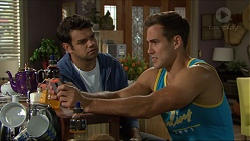 Nate Kinski, Aaron Brennan in Neighbours Episode 7354