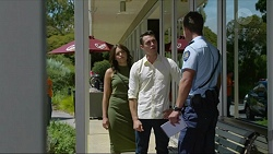 Paige Novak, Jack Callaghan, Mark Brennan in Neighbours Episode 7354