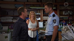 Paul Robinson, Steph Scully, Mark Brennan in Neighbours Episode 7354