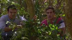 Nate Kinski, Aaron Brennan in Neighbours Episode 7355