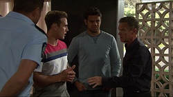 Mark Brennan, Aaron Brennan, Nate Kinski, Paul Robinson in Neighbours Episode 7356
