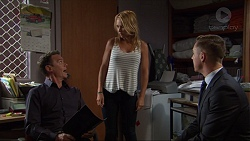 Paul Robinson, Steph Scully, Glen Darby in Neighbours Episode 7356