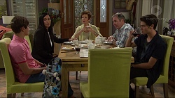 Angus Beaumont-Hannay, Sarah Beaumont, Susan Kennedy, Karl Kennedy, Ben Kirk in Neighbours Episode 7356