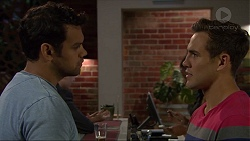 Nate Kinski, Aaron Brennan in Neighbours Episode 7356