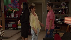 Sarah Beaumont, Susan Kennedy, Angus Beaumont-Hannay in Neighbours Episode 7356