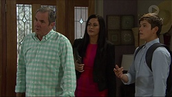 Karl Kennedy, Sarah Beaumont, Angus Beaumont-Hannay in Neighbours Episode 7357
