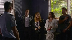 Mark Brennan, Paul Robinson, Terese Willis, Julie Quill, Aaron Brennan in Neighbours Episode 7357