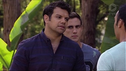 Nate Kinski, Aaron Brennan, Tom Quill in Neighbours Episode 7357