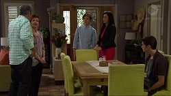 Karl Kennedy, Susan Kennedy, Angus Beaumont-Hannay, Sarah Beaumont, Ben Kirk in Neighbours Episode 7358