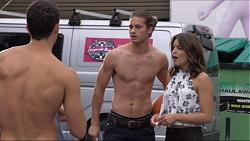 Jack Callaghan, Tyler Brennan, Paige Novak in Neighbours Episode 7359