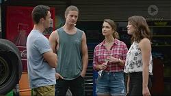 Jack Callaghan, Tyler Brennan, Amy Williams, Paige Novak in Neighbours Episode 7360