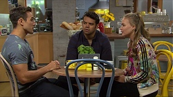 Aaron Brennan, Nate Kinski, Xanthe Canning in Neighbours Episode 7360