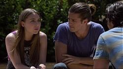 Piper Willis, Tyler Brennan, Brad Willis in Neighbours Episode 7362