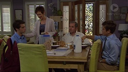 Ben Kirk, Susan Kennedy, Karl Kennedy, Angus Beaumont-Hannay in Neighbours Episode 7363